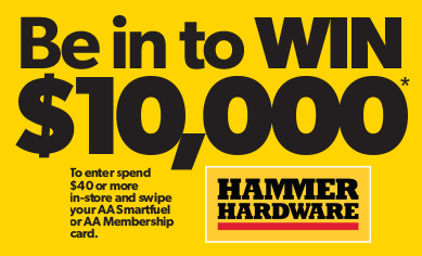 Win $10,000 with Hammer Hardware
